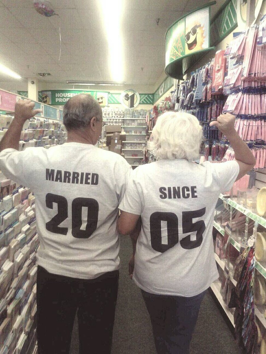 6263f2e5 Married Since Couples Matching Shirt Set, Cute Anniversary or Wedding Gift  Idea for the Couple, Custom Jersey Number Tee Shirt Set of 2 ...
