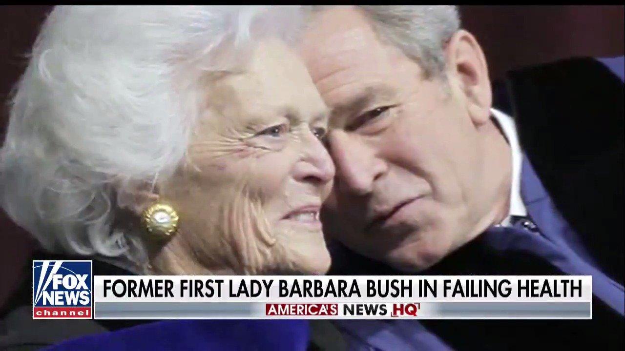 Barbara Bush to focus on comfort care amid 'failing health,' spokesman says https://t.co/DCtbpRpSCY https://t.co/EpsVth1j9u