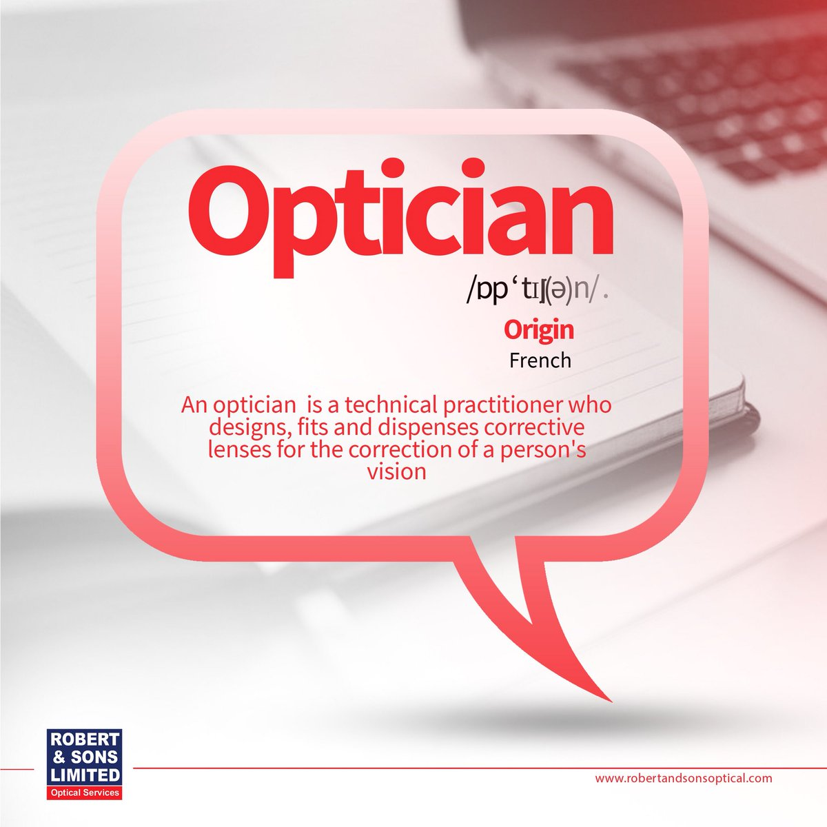 Robertsons Optical On Twitter An Optician Is A Technician Trained