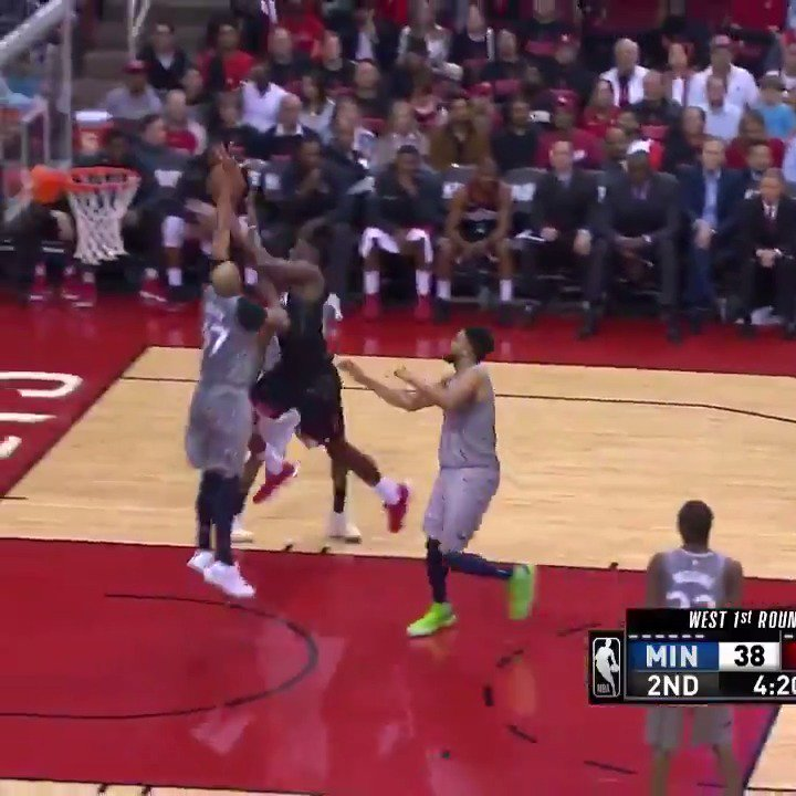 Clint Capela posts 1st half double-double on his way to a #NBAPlayoffs career-high 24 PTS, 12 REB! #Rockets https://t.co/0jrDBqegMM