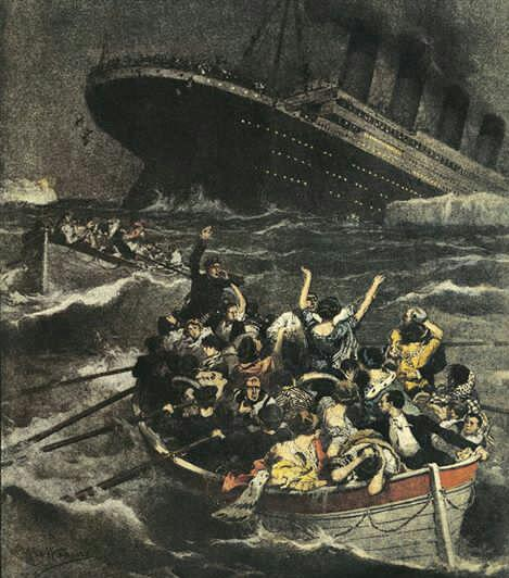 On #Thisdayinhistory 1912 The RMS #Titanic billed as #unsinkable Sinks into the icy water of #Atlantic after hitting an iceberg on its maiden vogage, killing 1517 people.