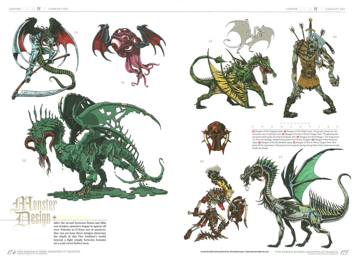 kantopia on twitter va some monster concept art from fire emblem