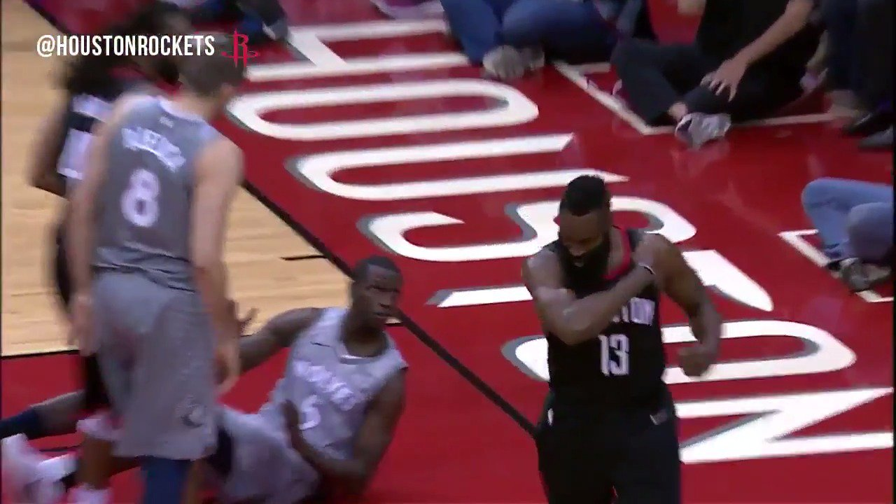An #MVP performance in Game 1 for @JHarden13. ��  �� 44 Points �� 8 Assists https://t.co/fqHg1Atk9S