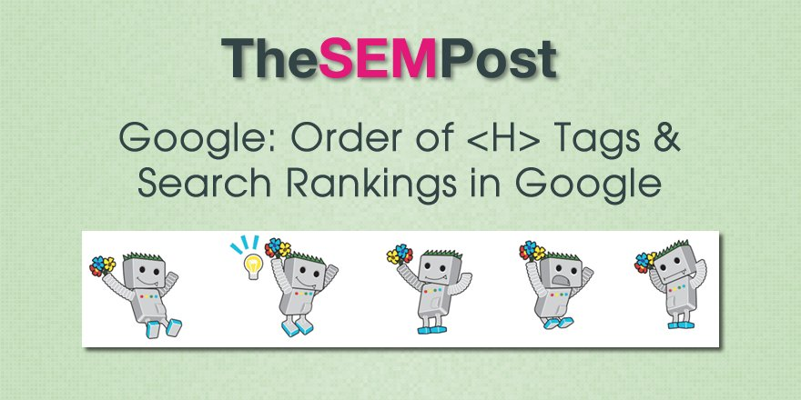 How H tags behave with #Google and what should be there order for better rankings?  https:// goo.gl/zSqBm2  &nbsp;    #webdevelopment #webdev #SEO #SearchEngineOptimization #DigitalMarketing #searchengines #Content #contentcreators #contentmarketing<br>http://pic.twitter.com/yDQ9k36WPK