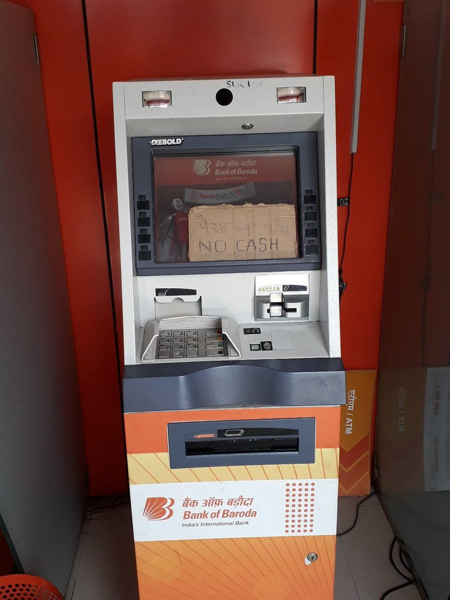 No respite from cash-crunch, dried-up ATMs with no-cash tags worsen situation