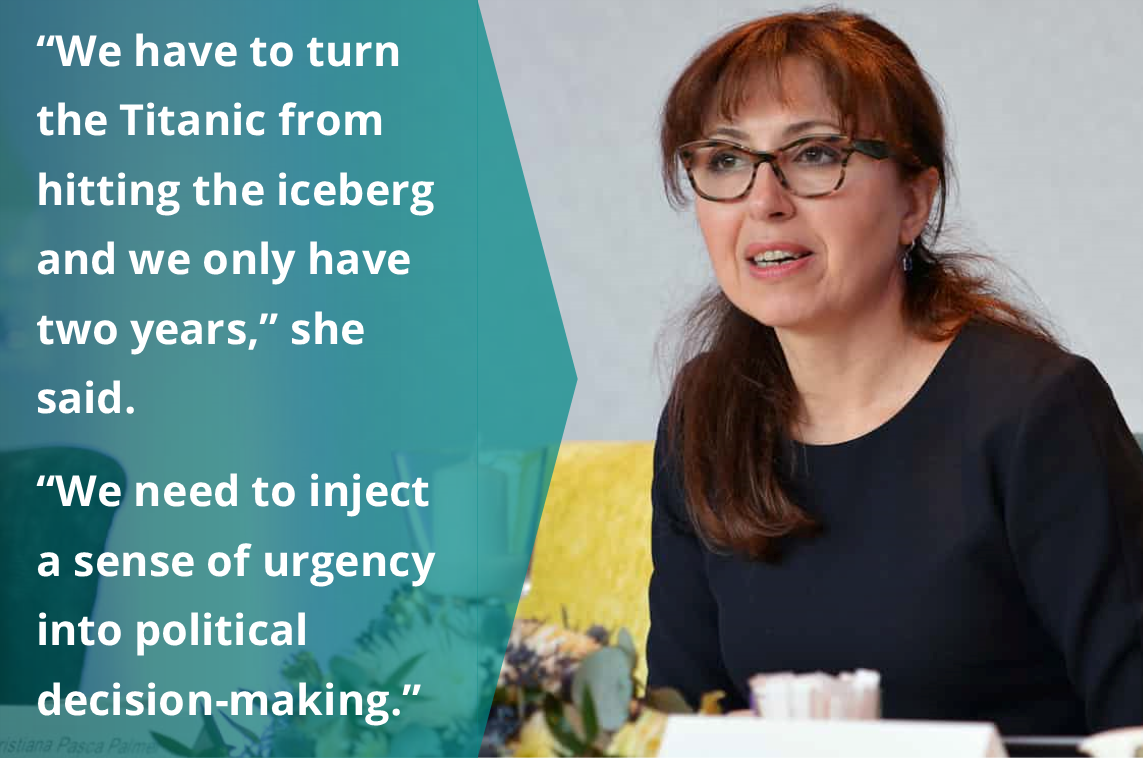 """We have to turn the Titanic from hitting the iceberg and we only have 2 years."" - @CristianaPascaP, #UnitedNations #biodiversity chief, @CBDNews  She also urges that we need to make half of the world more #nature-friendly by 2050  https://t.co/XwjCb82F7c"