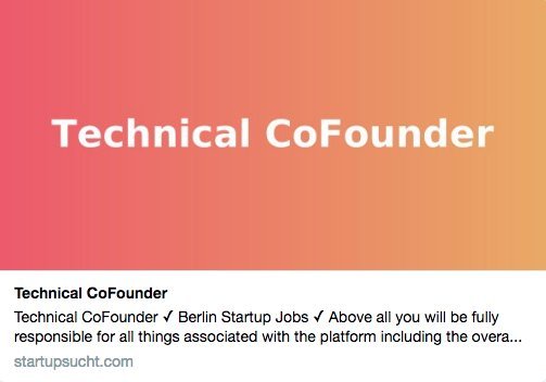 Up for a challenge? A major opportunity &amp; you can be a part of it! #cofounder Read more  https:// startupsucht.com/x/16507  &nbsp;   #Berlin #music #artists #djs #bands #Developer #events #voting #news #Software #StartHere #Entrepreneurship #community #platform #GlobalGoals #vc #Fullstack #startup<br>http://pic.twitter.com/X6wwaEIi95