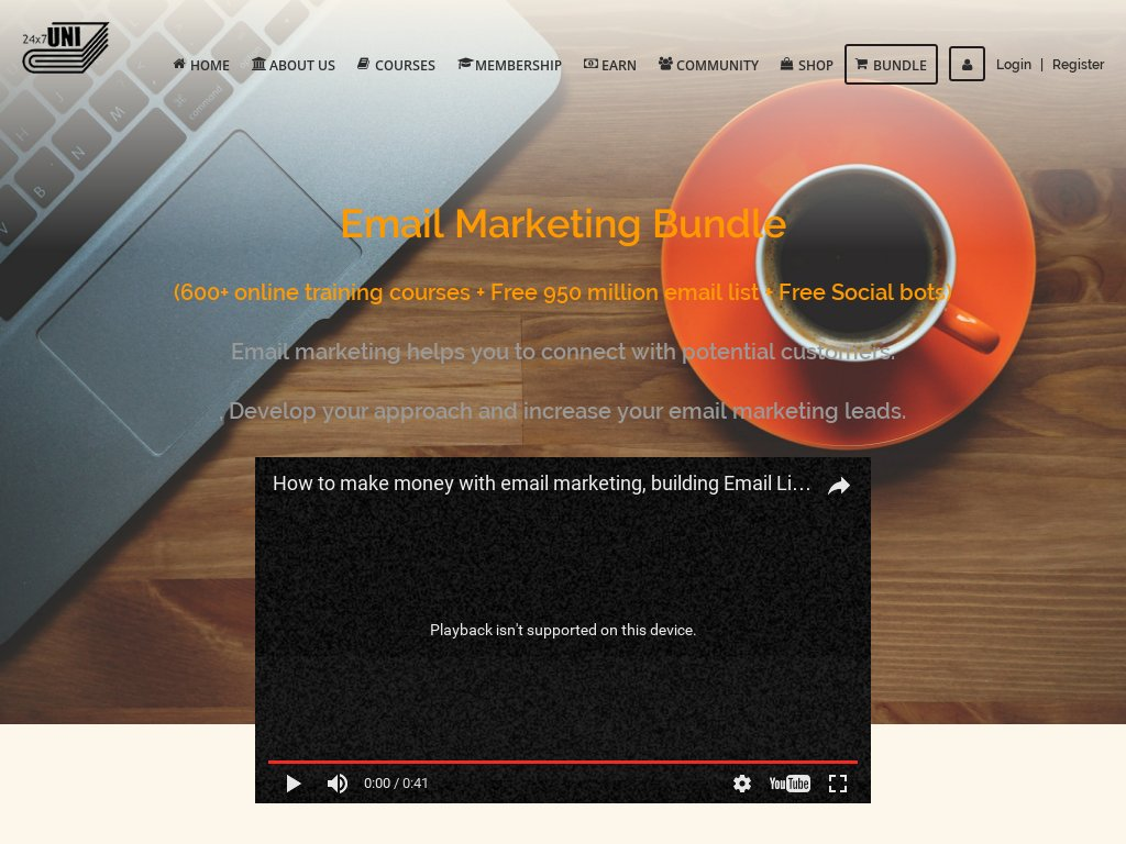 #Email #Marketing Bundle 600+ Online Training Courses + Free 950 Million Email #List  … http://170deb3 mlbvym6a8sf3pijveeo.hop.clickbank.net / &nbsp;  <br>http://pic.twitter.com/XuxK67lVUq