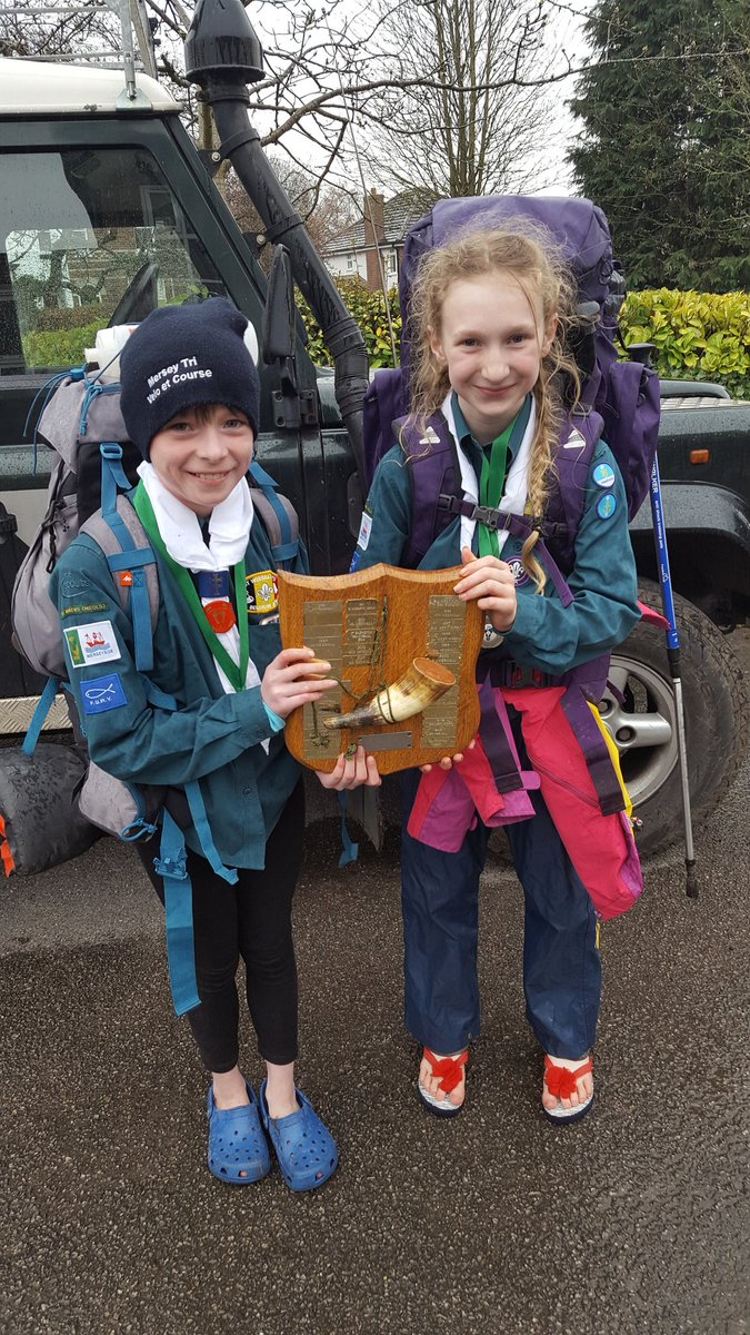 So proud of these two for completing the @CheshireHike yesterday and winnning the @WestWirralScout district prize! Big thanks to the leaders and volunteers who gave up their time to make the weekend a success <br>http://pic.twitter.com/N778pkmZJ9