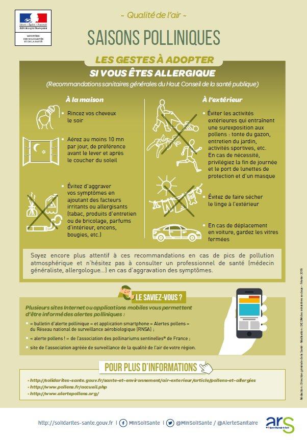 d454d19de686 En cas d allergie voici les gestes à adopter pour diminuer l exposition aux   pollens ,  prévention (N hésitez pas à aller chez un médecin en cas ...