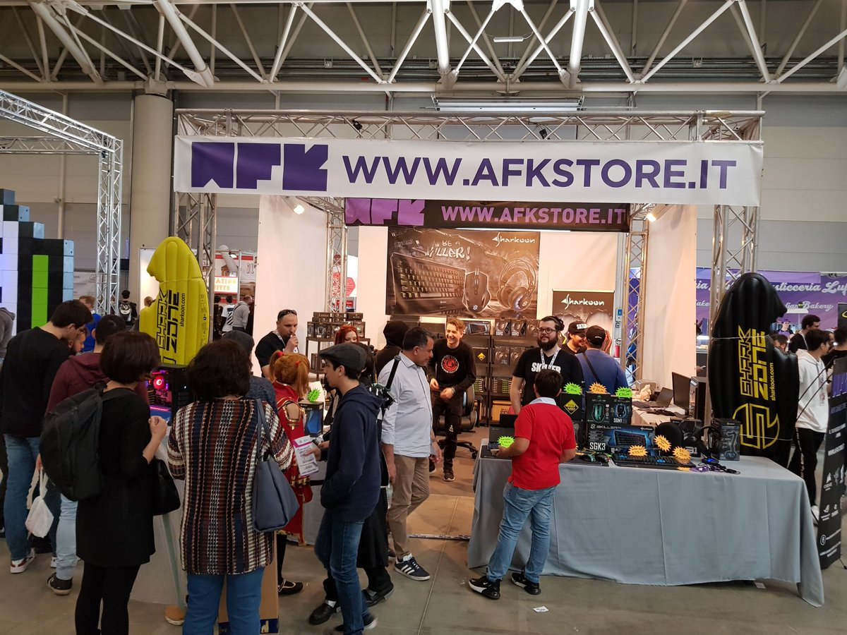 """Sharkoon Technologies on Twitter: """"People were lining up early to get their  hands on the latest Sharkoon gear at Romics 2018! #Sharkoon #afkstore  #Romics… ..."""