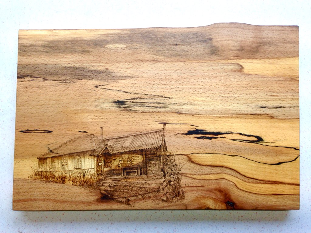 Charred Wood On Twitter This Wood Beautiful Spalted Beech From The Scottish Borders Adds So Much Drama To These Boards Handmade In Northumberland Pyrography Woodburning Https T Co Aectbct5u7
