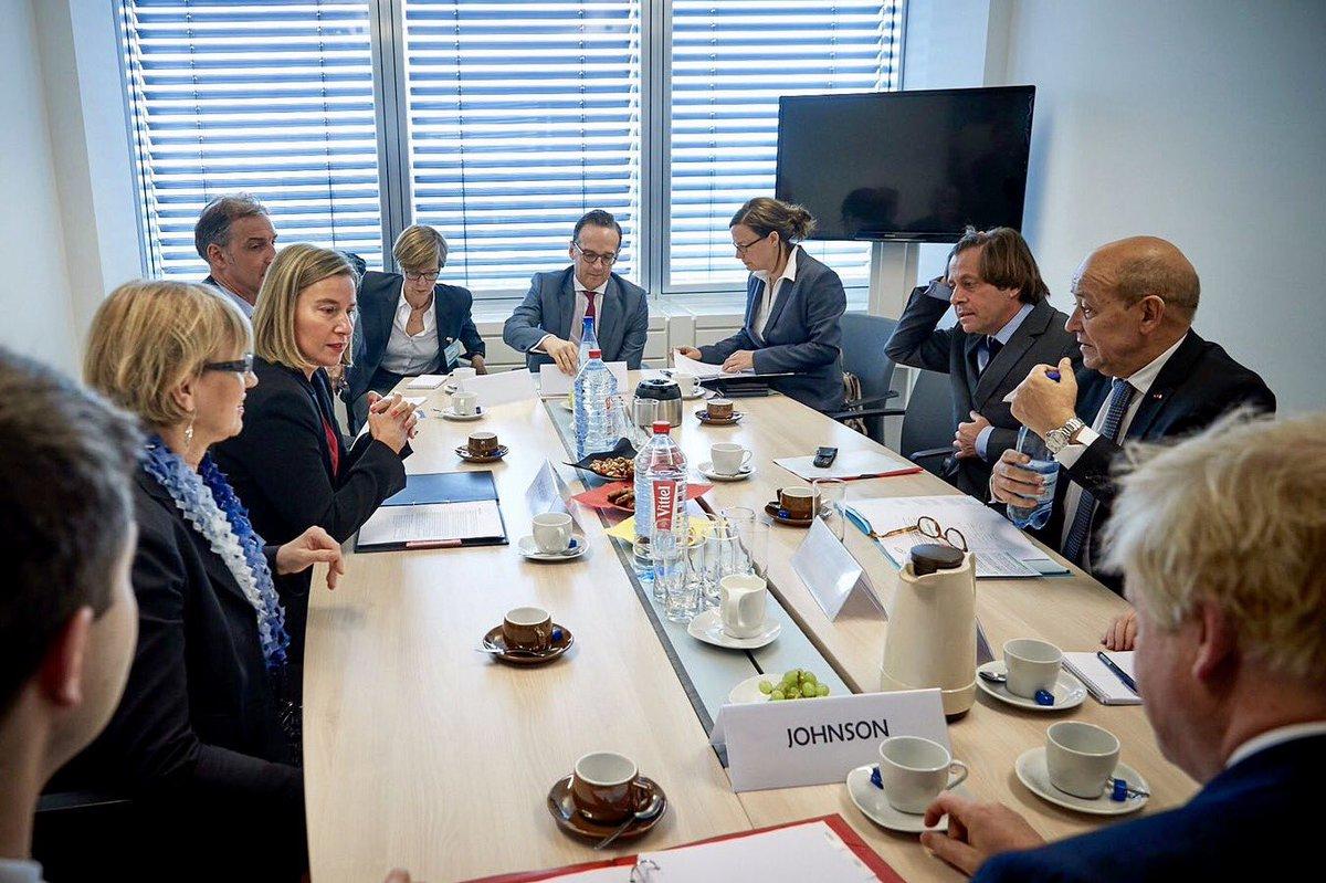 federica mogherini on twitter chairing eu e3 coordination