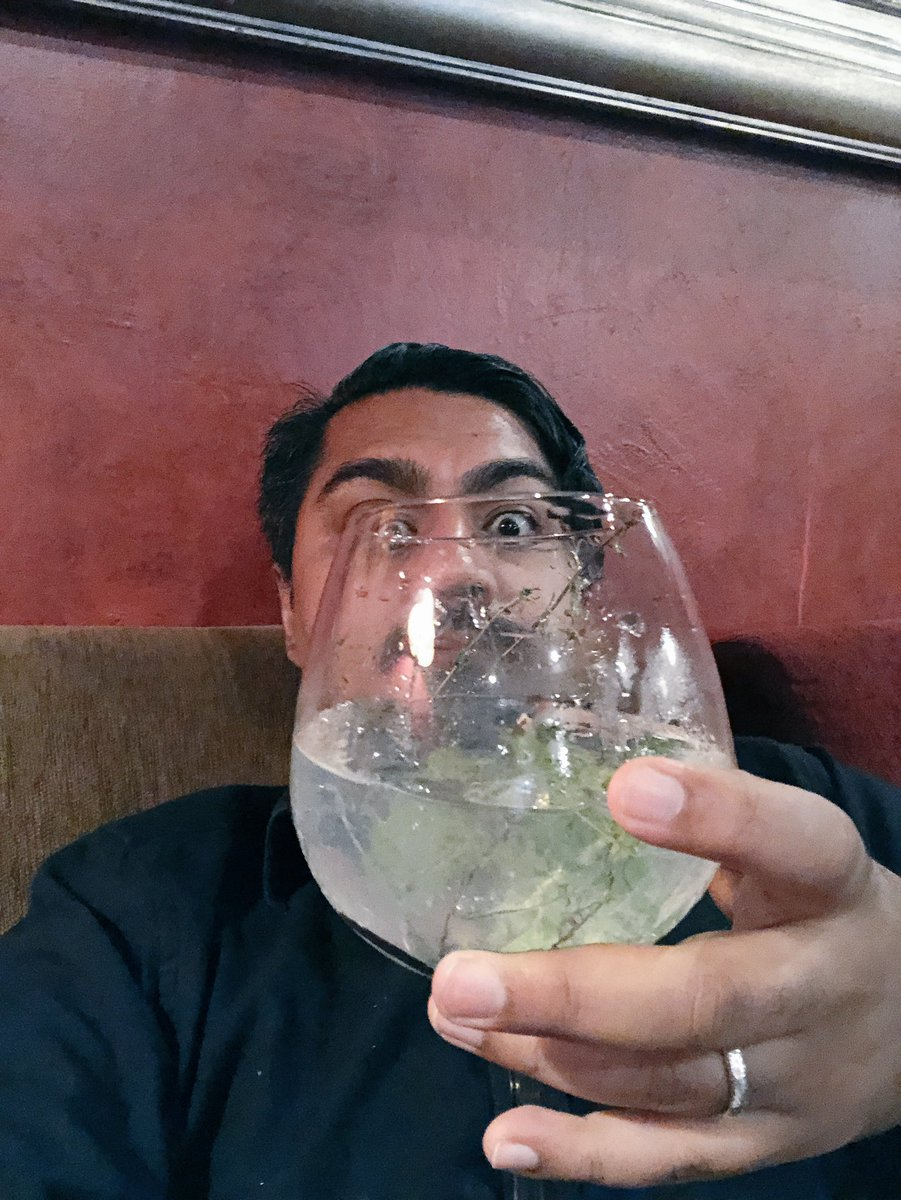 After a long day of meetings it's important that ones #Gin&Tonic is bigger than ones head.