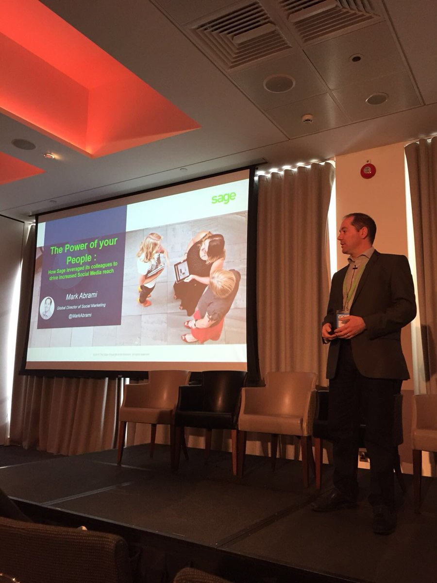 Enjoyed presenting on our @sageuk #EmployeeAdvocacy this morning at #DMWF. Always a pleasure sharing knowledge and experience with other #DigitalMarketing professionals<br>http://pic.twitter.com/F3NO6KMG5D