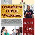 Interested in Social Work at IUPUI? Attend the transfer workshop at the Ivy Tech downtown campus on April 18th from 1:00 - 2:00 pm.