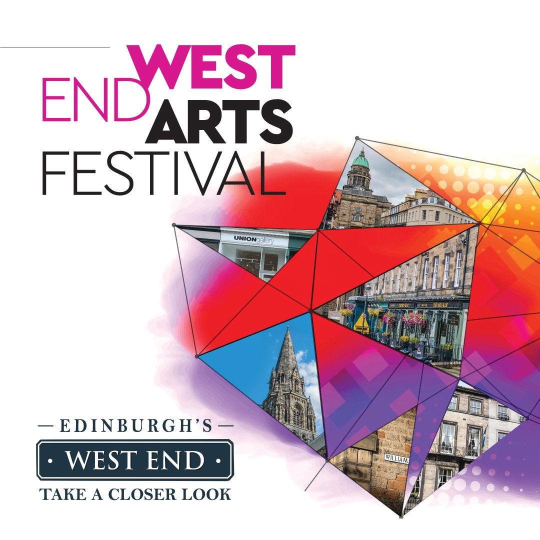 There's still time to catch the works on show in the @EdinWestEnd_ Arts Festival. Head to @UNIONgallery1 to view Ad plus Ads + Equal Adds = ADD by Kevin Harman and @ScottishArtsCL  for The Engagement Party by Paloma Proudfoot and Aniela Piasecka.