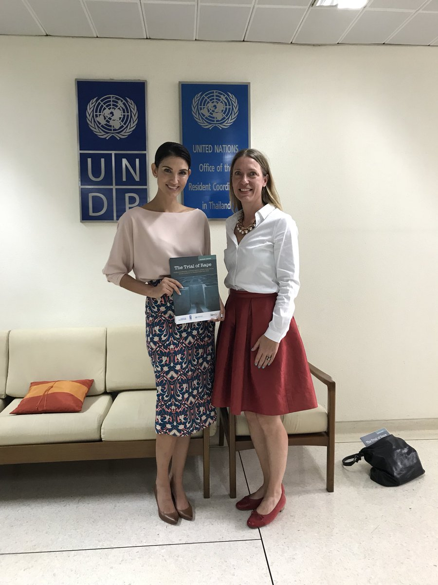 Extremely productive meeting with both regional and country teams of #UNDP &amp; #UNWomen today to discuss future initiatives to combat sexual harassment and assault in Thailand and for the issue of womens' rights to expression and to safety. #donttellmehowtodress #TellMenToRespect<br>http://pic.twitter.com/UFndel4Mnx
