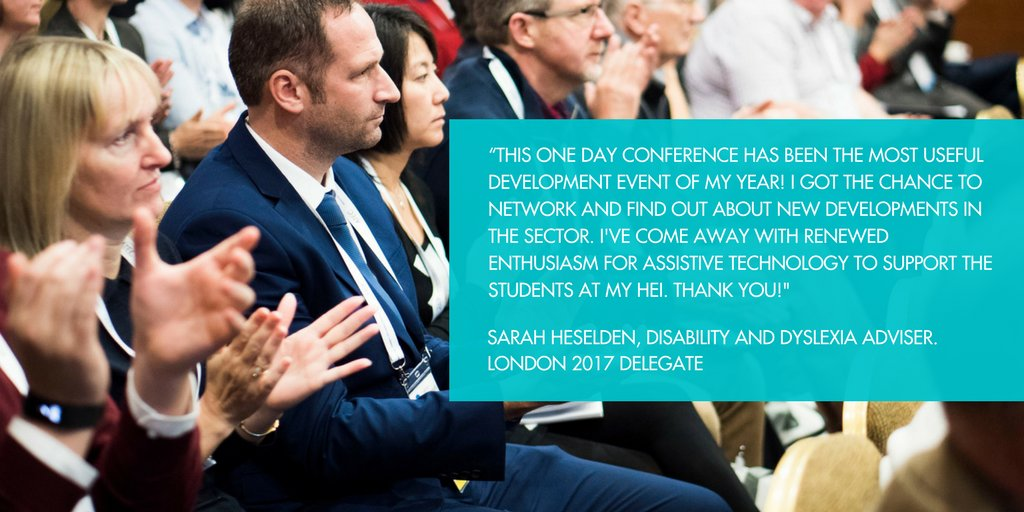 Aimed at disability professionals in the #workplace and #HE - ATEC London on 3rd May showcases excellence in #assistivetechnology #AT  @mypurplespace @AbilityNet @hminto @debraruh @RNIB @Remploy @ToyotaMobFdn Find out more  http://www. ateconference.com / &nbsp;  <br>http://pic.twitter.com/1z9kBn9FHd