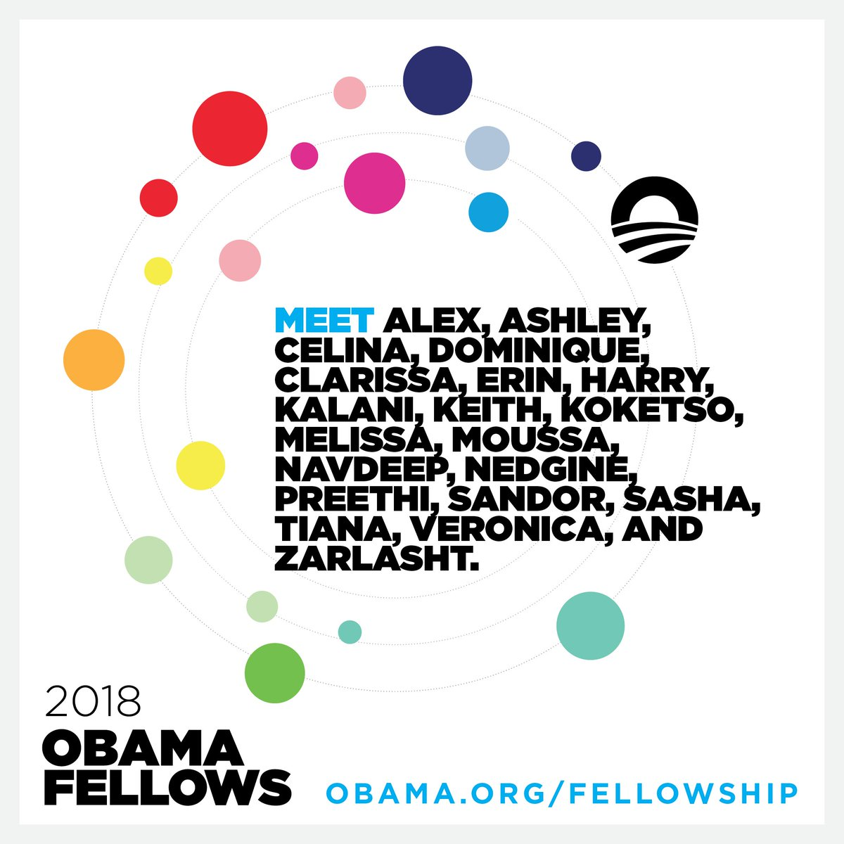 We just announced the inaugural class of #ObamaFellows. These 20 civic leaders have carried out inspiring work around the world. Now, they'll come together to collaborate, exchange ideas, and inspire a wave of civic innovation. Meet the Fellows: obama.org/fellowship/201…