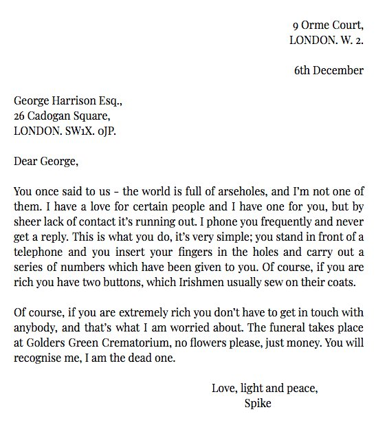 Letters of Note's photo on Spike Milligan