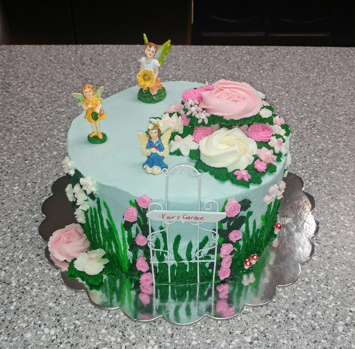 Cupcakes By Flea On Twitter Fairy Garden Cake