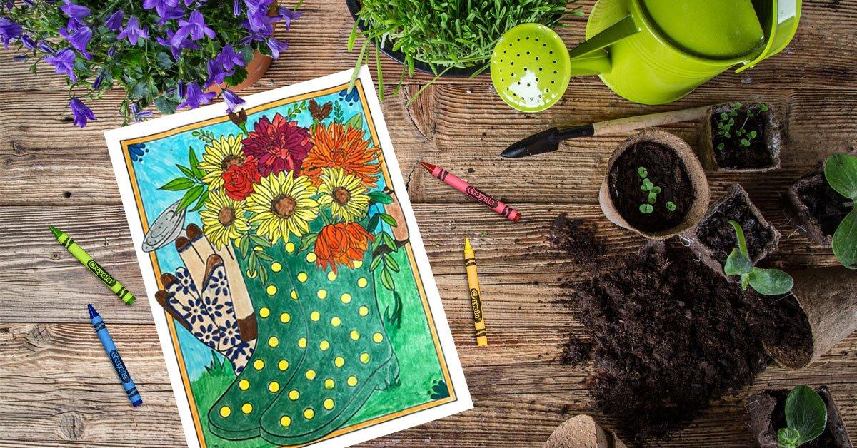 Spring Bingo 4 | crayola.be | 628x1200
