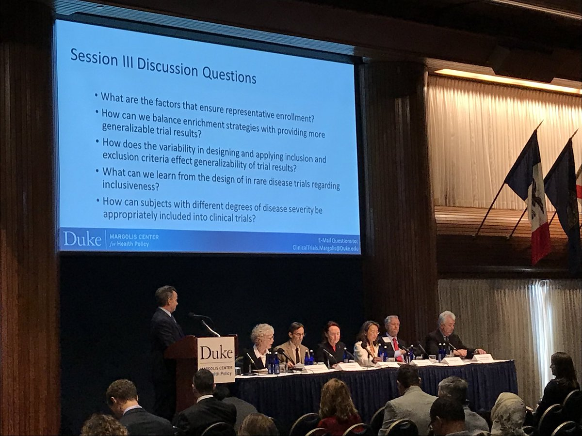 Today, @US_FDA and @dukemargolis are leading a discussion on why so many patients are excluded from clinical trials. Huge issue for #raredisease community, and we at @RareDiseases want a solution. #TrialsEligibility <br>http://pic.twitter.com/NKGZYx0wiP
