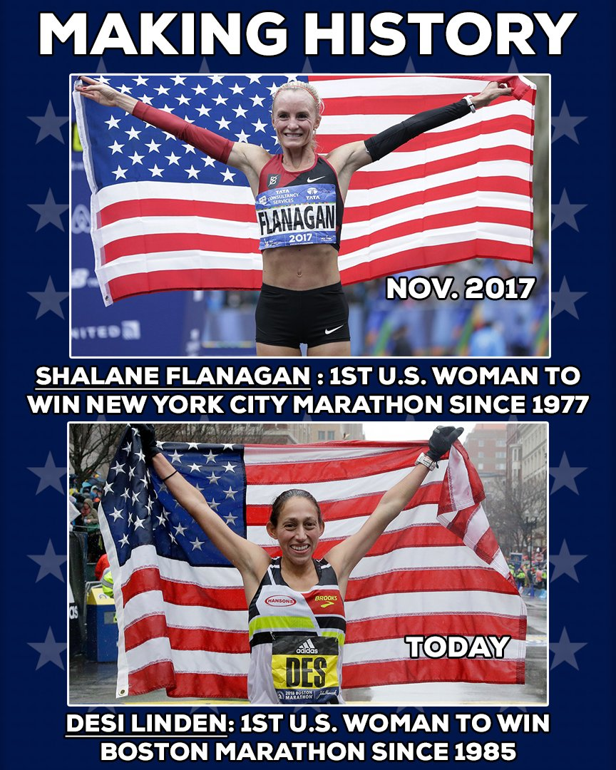 In a span of five months, two long American marathon droughts came to an end. #BostonMarathon <br>http://pic.twitter.com/mfd21B8Buc