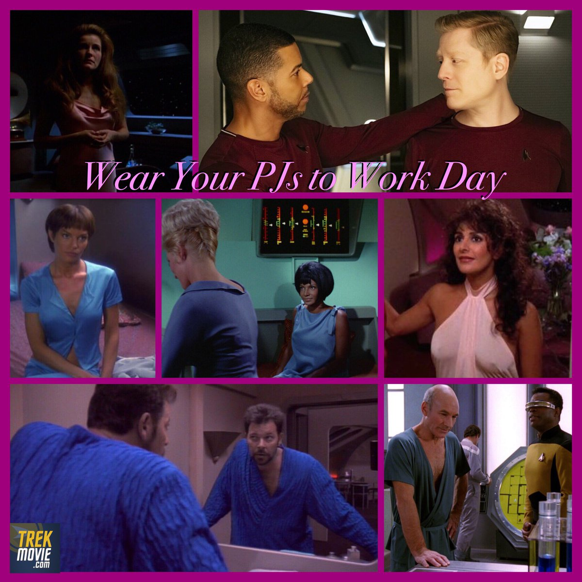 It&#39;s  #WearYourPajamasToWorkDay It worked on #StarTrek so why not? Show us your PJs!<br>http://pic.twitter.com/NZKpJqdnJL