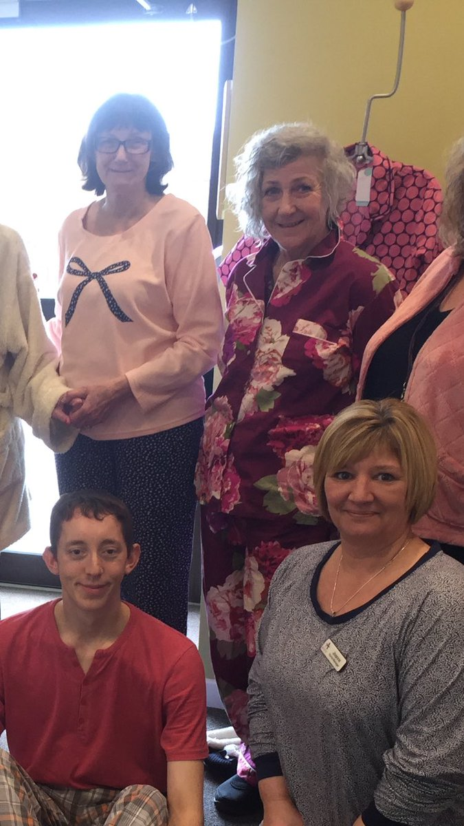 So we wore our #Pajamas to work today! Why? Because we want too!  @Anchor_Trust @NAPAlivinglife @marksandspencer @GuiseleyGazette #WearYourPajamasToWorkDay <br>http://pic.twitter.com/Gq6eKhJ6iz