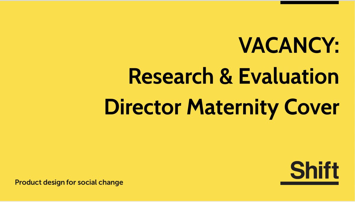 #vacancy #jobs #job #research #evaluation #behaviourchange #innovation # Charity #Socialimpact #maternitypic.twitter.com/qKeRbS4iRn