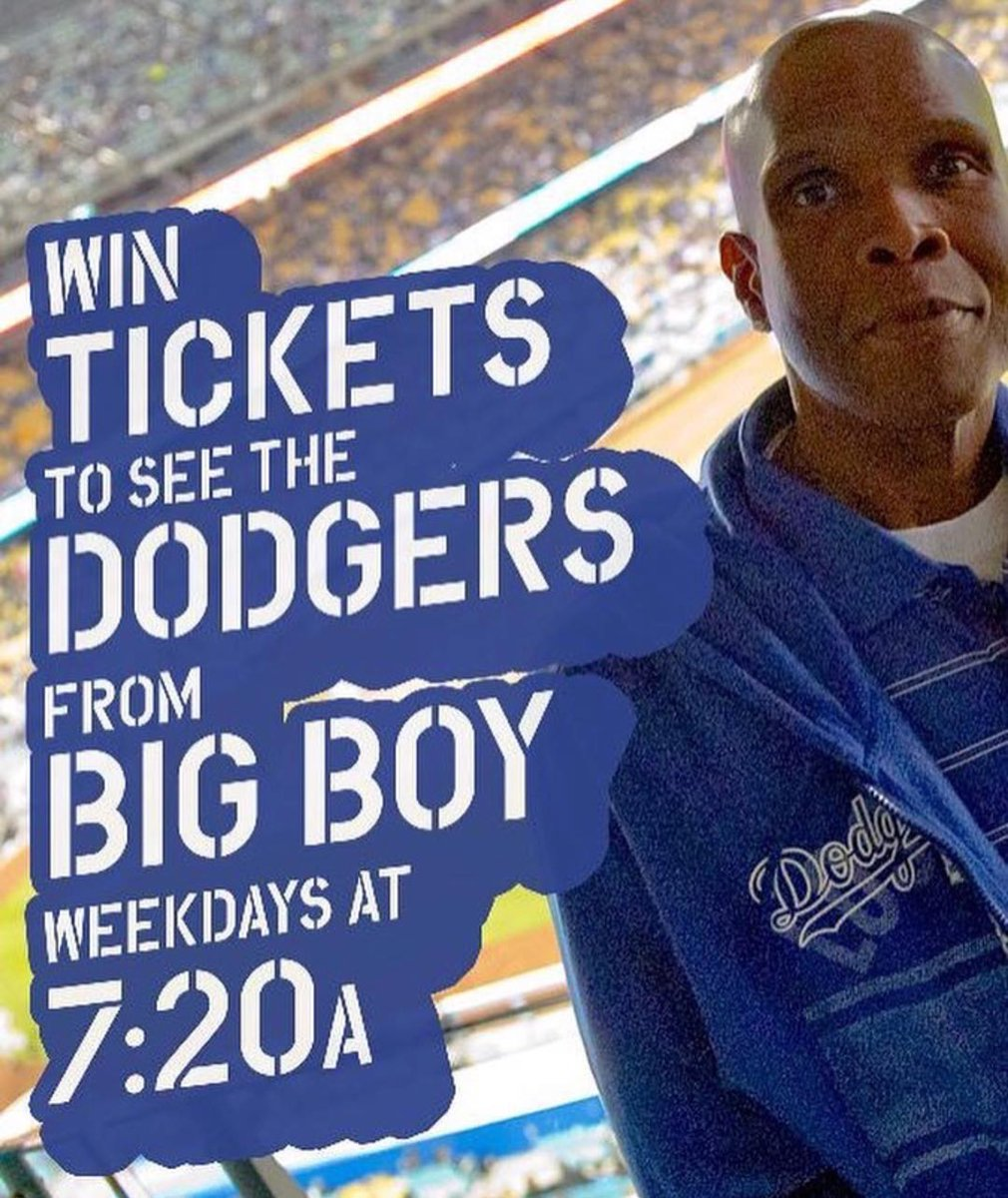 Tag a #Dodgers fan, we're giving away tickets all week long! #BigBoy