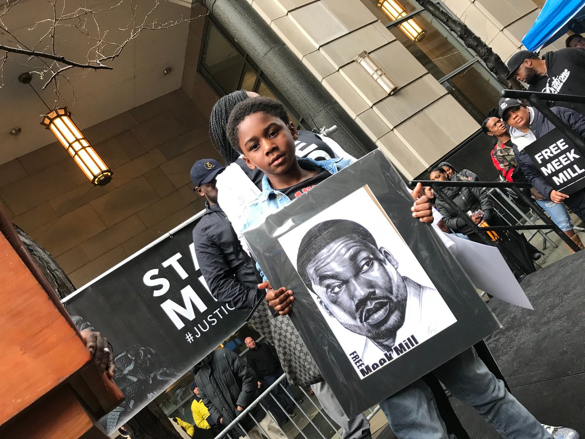 """RALLY IN THE RAIN: @MeekMill's 6YO son says """"I miss my dad very much! I love my dad very much."""" #Justice4Meek #FreeMeekMill<br>http://pic.twitter.com/s3ZMTigSPz"""