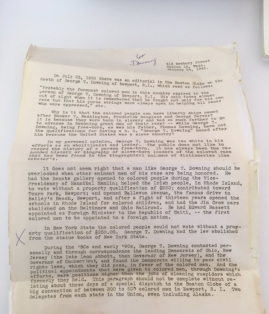 In honor of DC's #Emancipation Day, I am posting this #slavearchive document about #GeorgeTDowning and #ThomasDowning by #PhillipD.Downing. These documents are from the #RhodaGFreeman Collection at @SchomburgCenter Archives. #BlackProGen #UnapoligeticallyBlack #Resist #Royalty<br>http://pic.twitter.com/gwofyg15fP