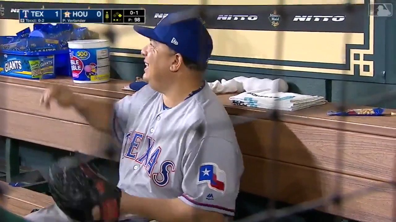 If you thought Bartolo would be shook taking a perfect game into the 8th … you don't know Bartolo. https://t.co/3gInvXd4oZ