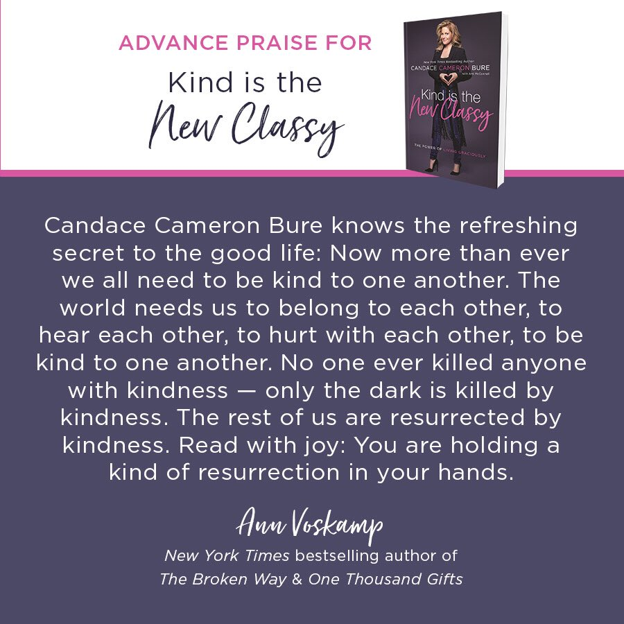 Kind Is The New Classy Releases April 24th You Can Pre Order At Link Below Candacecameronbure Promo Pictwitter