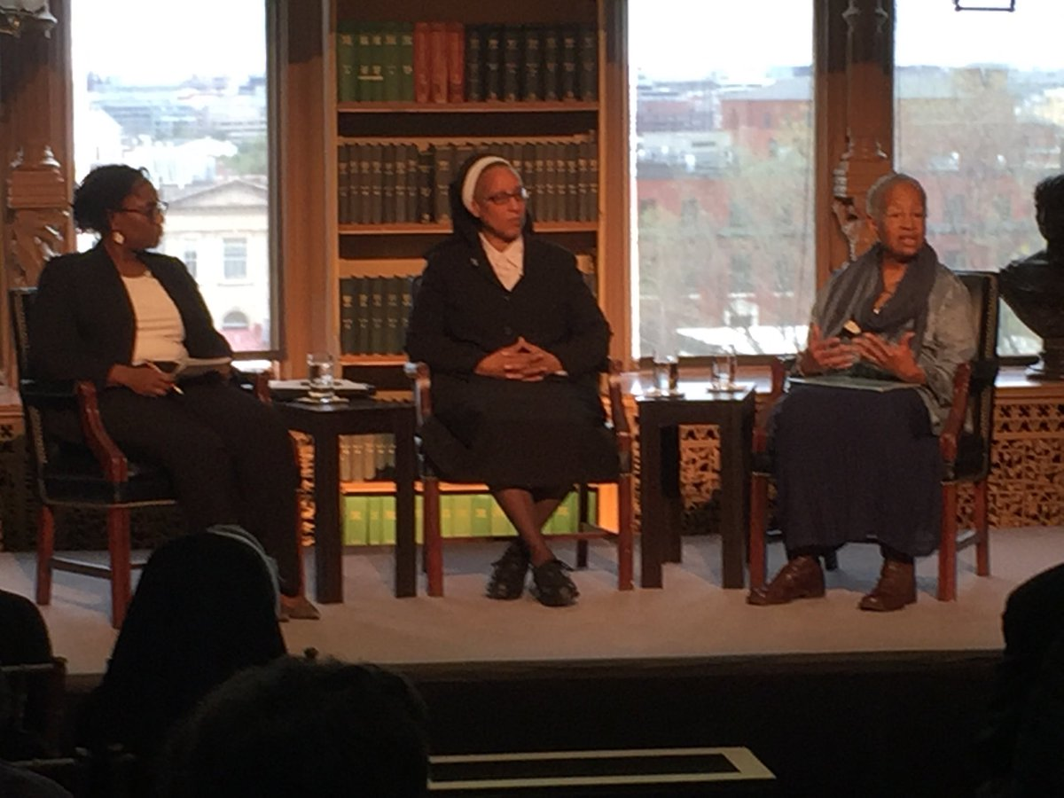 Professor Morrow of @UGAHistory in conversation with Sr. Marcia Hall of the Oblate Sisters of Providence and @DrMChatelain @Georgetown #EmancipationDay <br>http://pic.twitter.com/UsDxDt8Vhs
