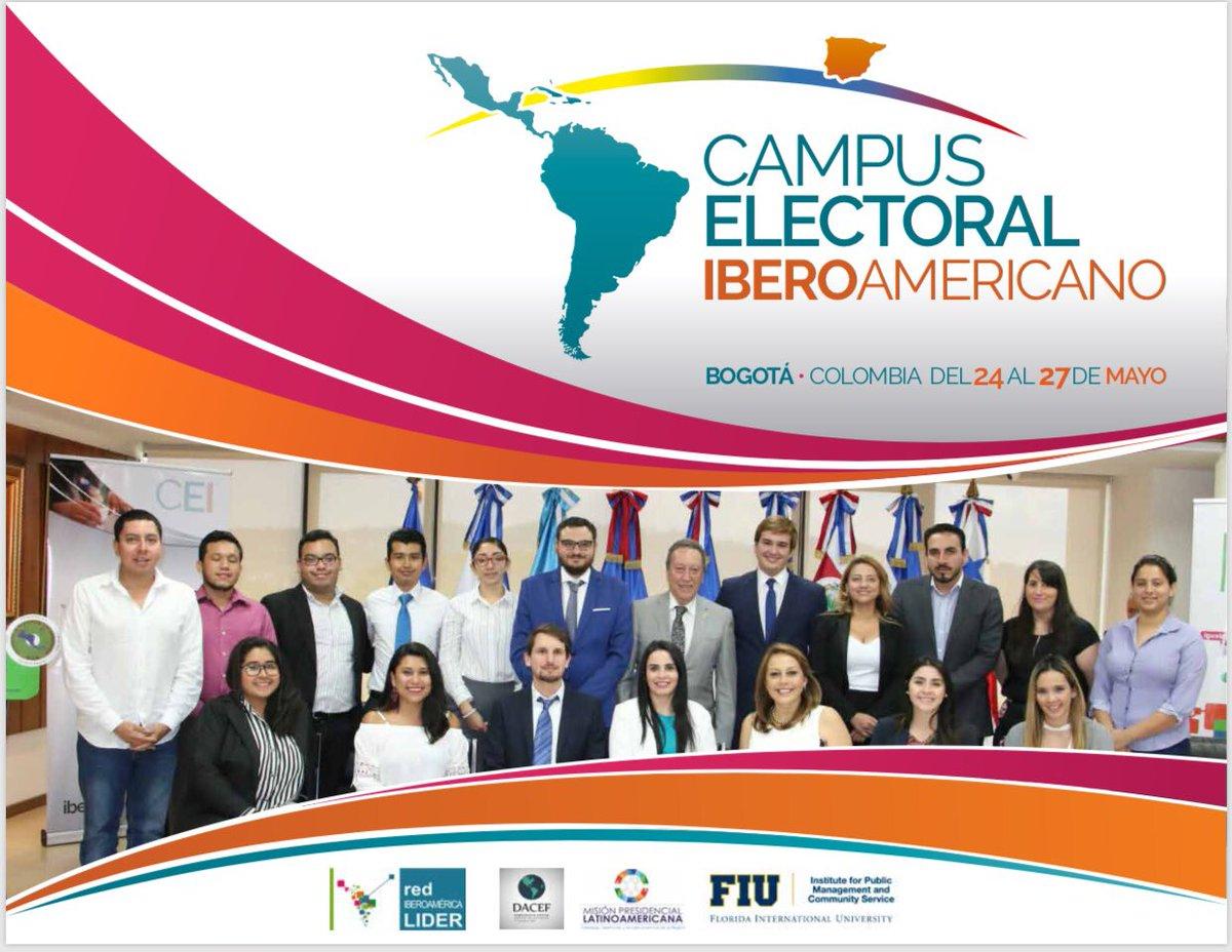 🚨🇨🇴 ¡Aprovecha la oportunidad y vive en primera persona las elecciones presidenciales de Colombia! Campus Electoral Iberoamericano, Bogotá del 24 al 27 de mayo.  Más en: http://www.iberoamericalider.org/cei-2018/