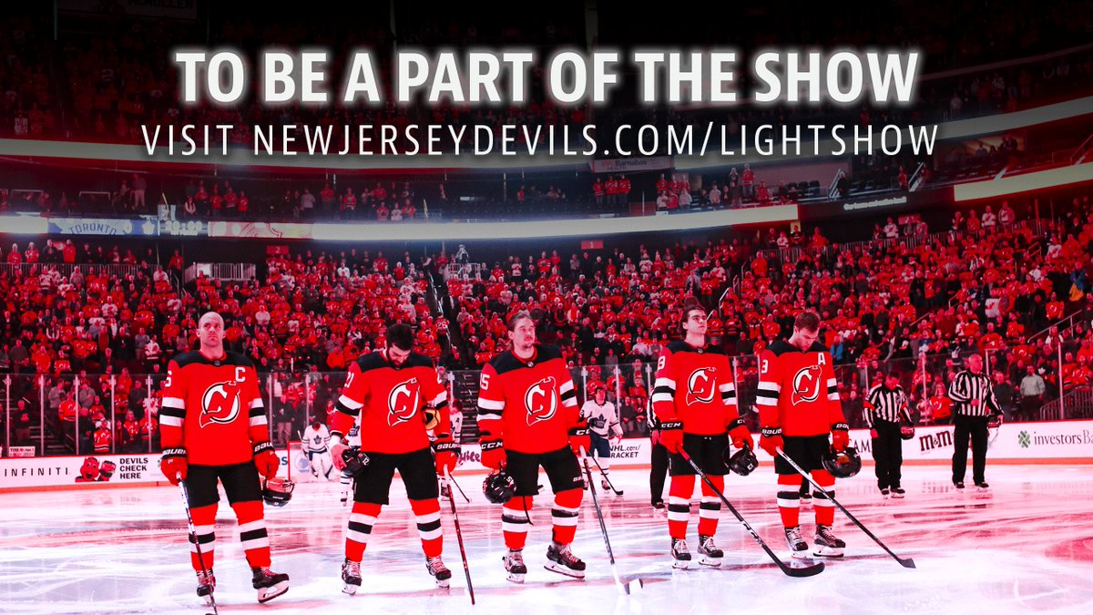 Be the home-ice advantage tonight at @PruCenter and join the #NJDevils pregame light show! bit.ly/2H2Q2wa