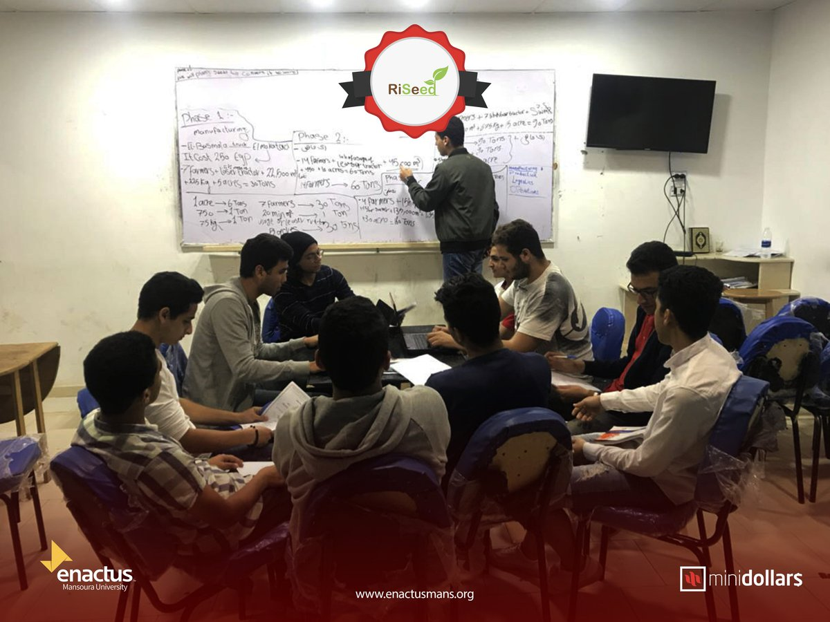 Using rice seedlings instead of normal rice seeds, RiSeed has established a unique way of rice farming that doesn't only save water, time, fertilizers, but it also increases the production rate!  #enactus #enactusmans #business #entrepreneur #MiniDollars #ClassOf2018 <br>http://pic.twitter.com/OG8CP94YDv