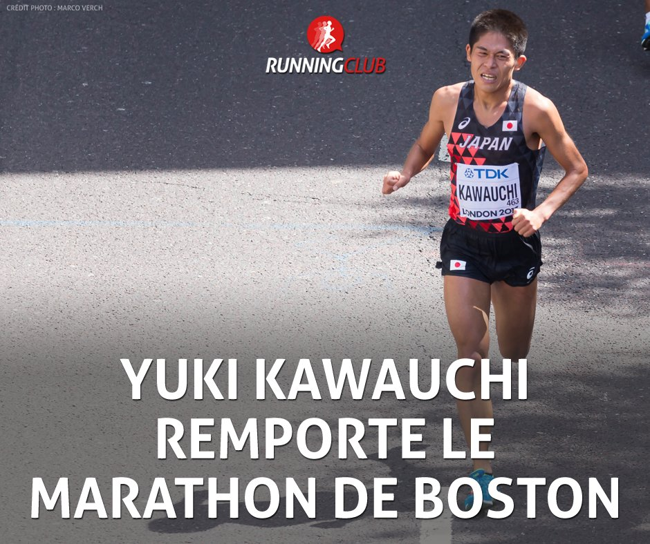 SUPERBE ! Le Japonais Yuki Kawauchi  remporte le marathon de Boston en 2:15:54 Amateur parmi l\