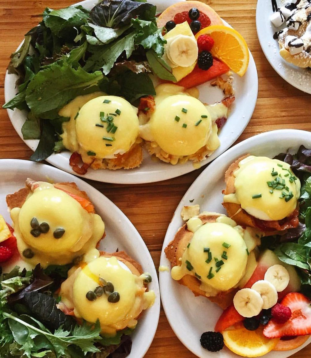 It's #NationalEggsBenedictDay! Why not start the week off right with a sweet and salty version of this popular dish by adding a splash of Canadian maple syrup? #NoSeriously  :tastetoronto/IG<br>http://pic.twitter.com/xr8zqjQEBy