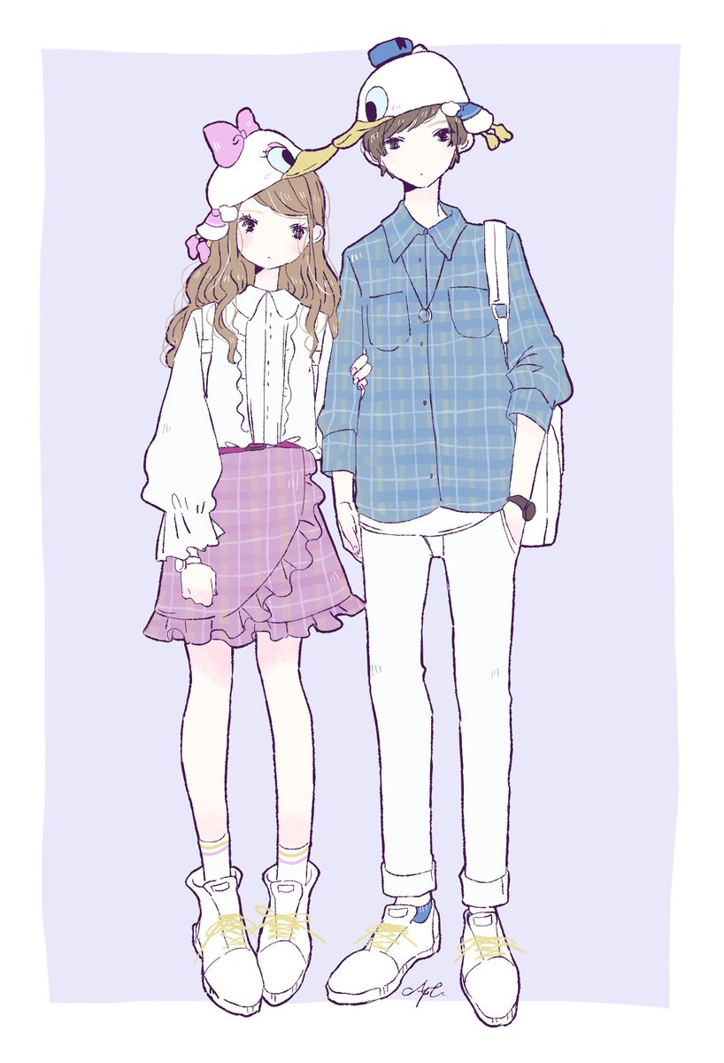 """あやた on twitter: """"ディズニーランド カップルコーデ🐭🐤🐯🐻🐶… """""""