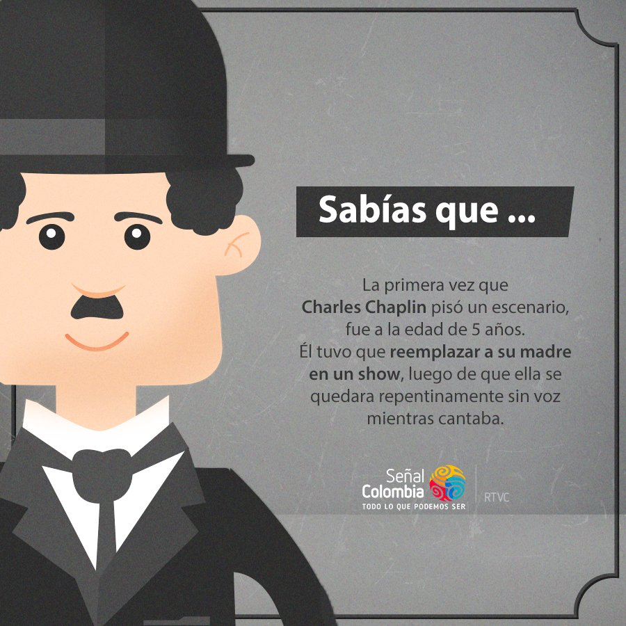 Señal Colombia's photo on Charles Chaplin