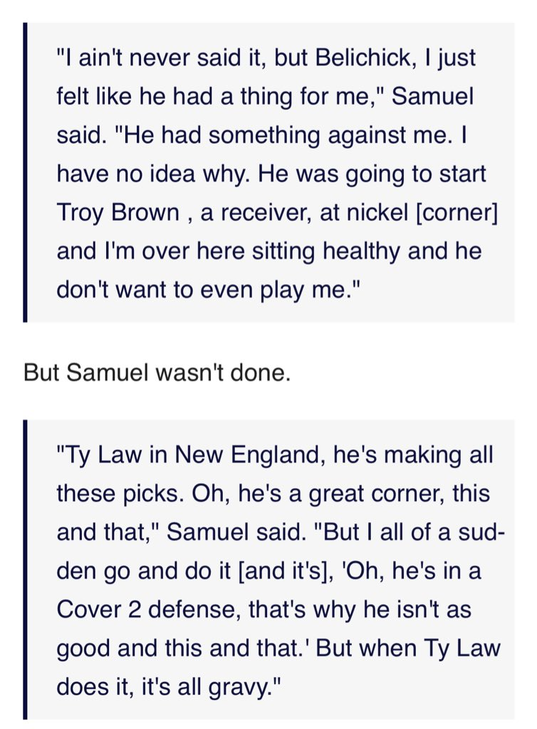 Dave Brown On Twitter You Never See Quotes About Samuels Time In