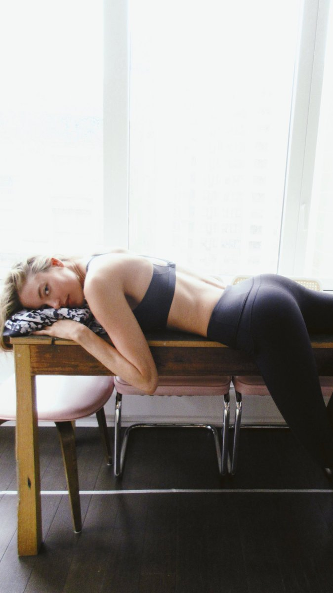 Martha Hunt  - post yoga 😴 twitter @MarthaHunt