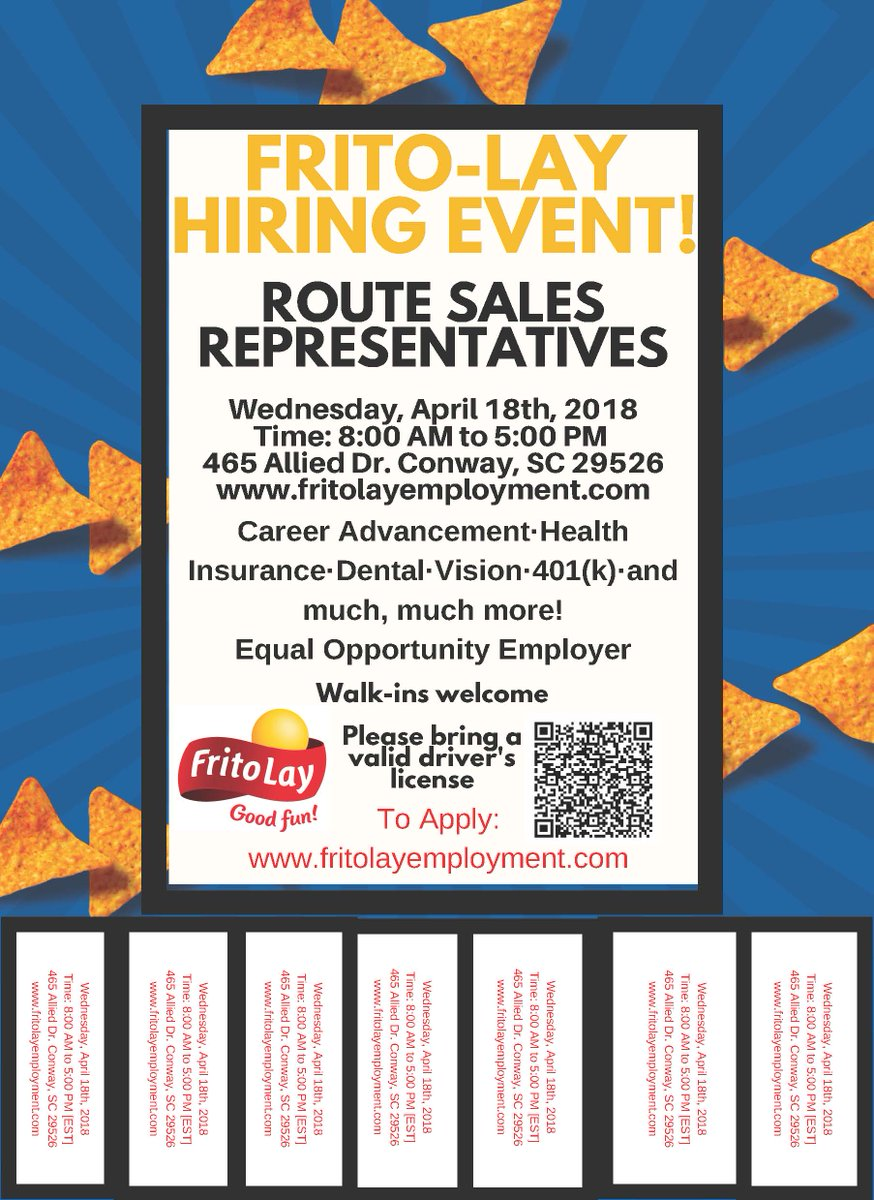 Ccu Career Services على تويتر Frito Lay Hiring Event For Route