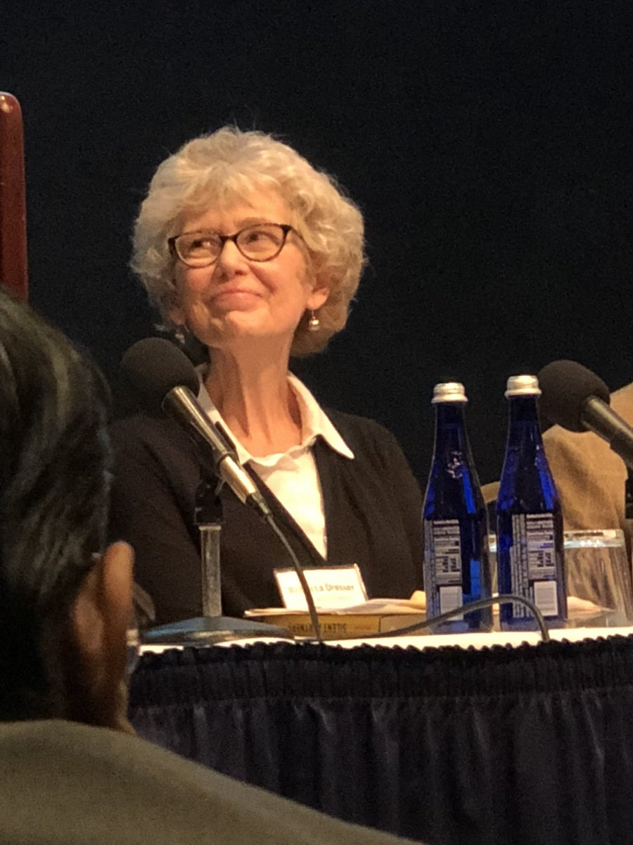 """How do we help with research retention? Rebecca Dresser from @WashingtonUniv says """"People need to know what they are getting into"""". Education is a key! #trialseligibility <br>http://pic.twitter.com/g0DZYuiVg9"""