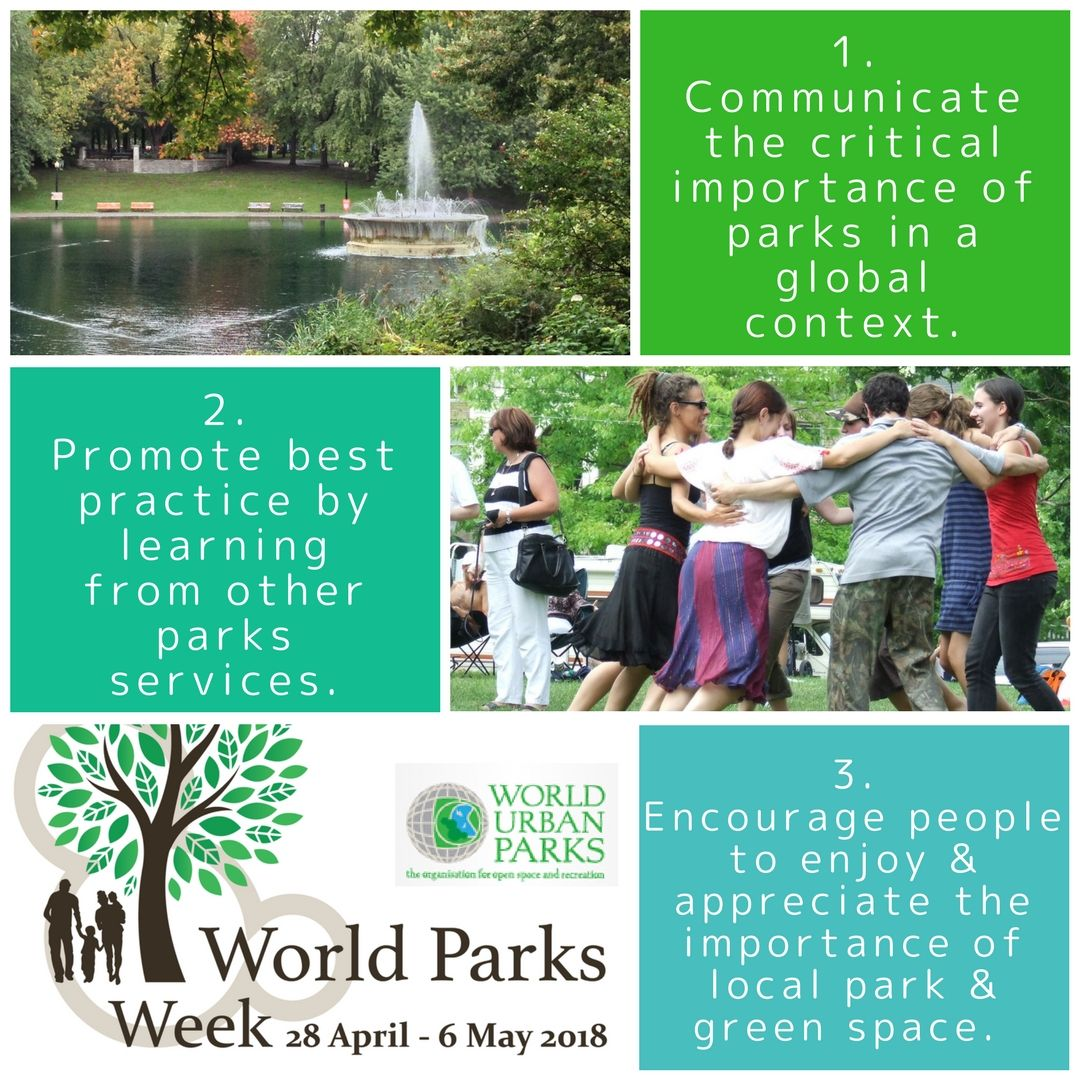 Celebrate Our Urban Parks And Green Spaces Together Communicate Promote Encourage WPW2018 Recreation WUParks NRPA News